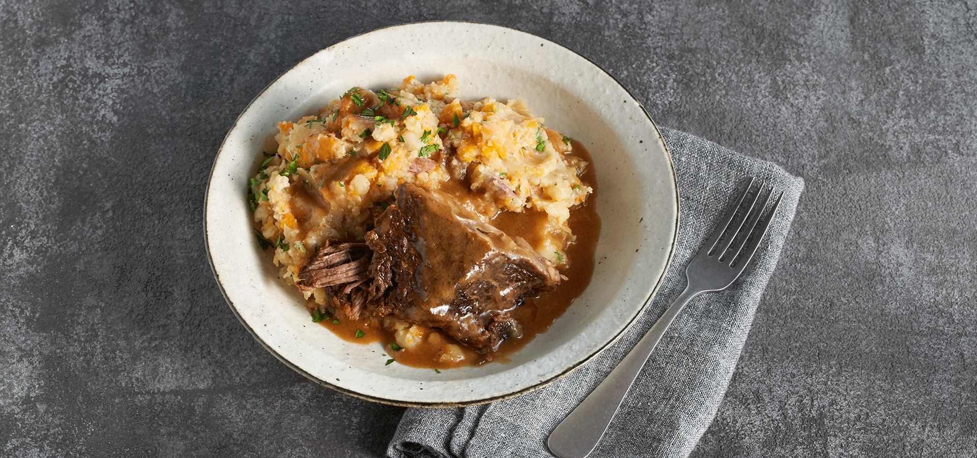 Beef Short Ribs with Vegetable Mash