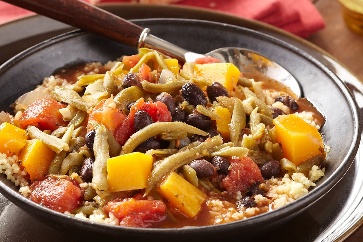 Butternut Squash and Black Bean Stew with Tomatoes and Green Beans