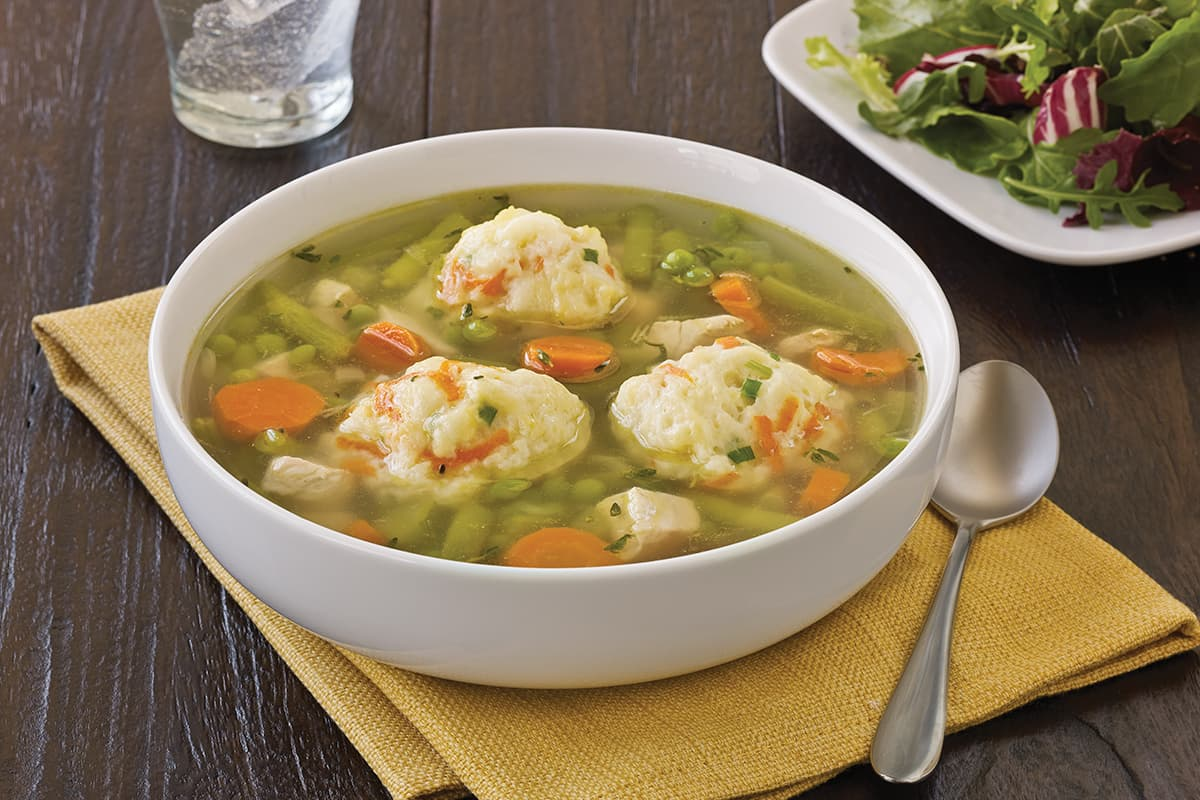 Chicken Vegetable Soup with Carrot Dumplings