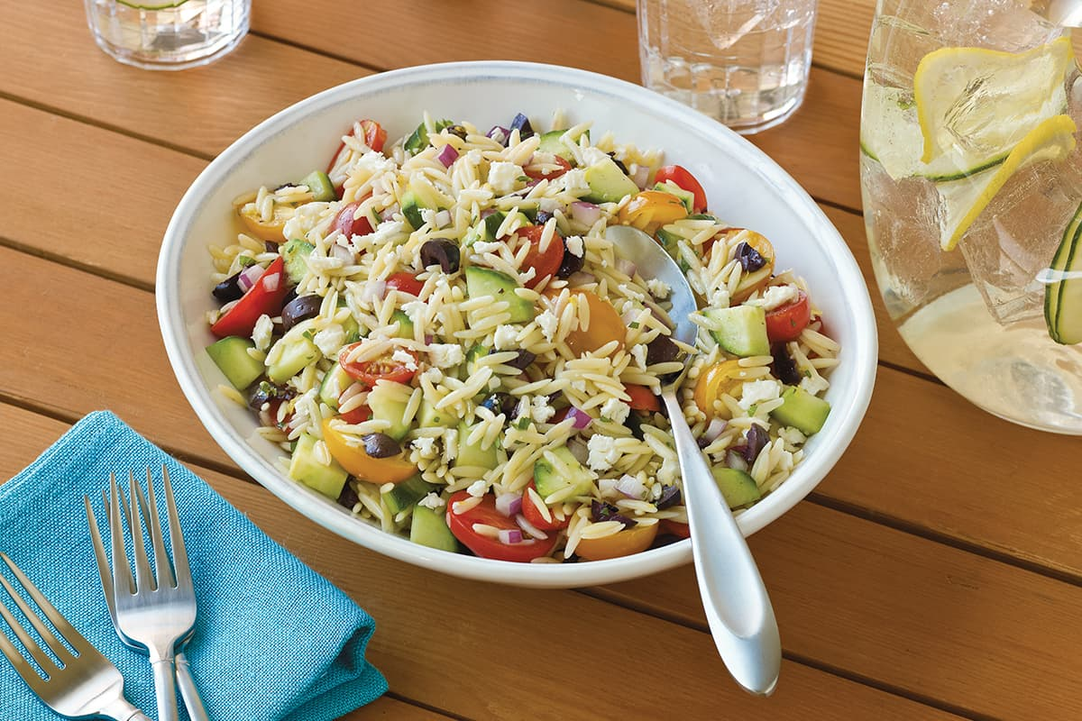 Orzo Salad with Grape Tomatoes and Feta