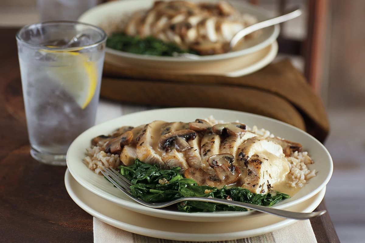 Quick Chicken with Creamy Dijon Mushroom Sauce