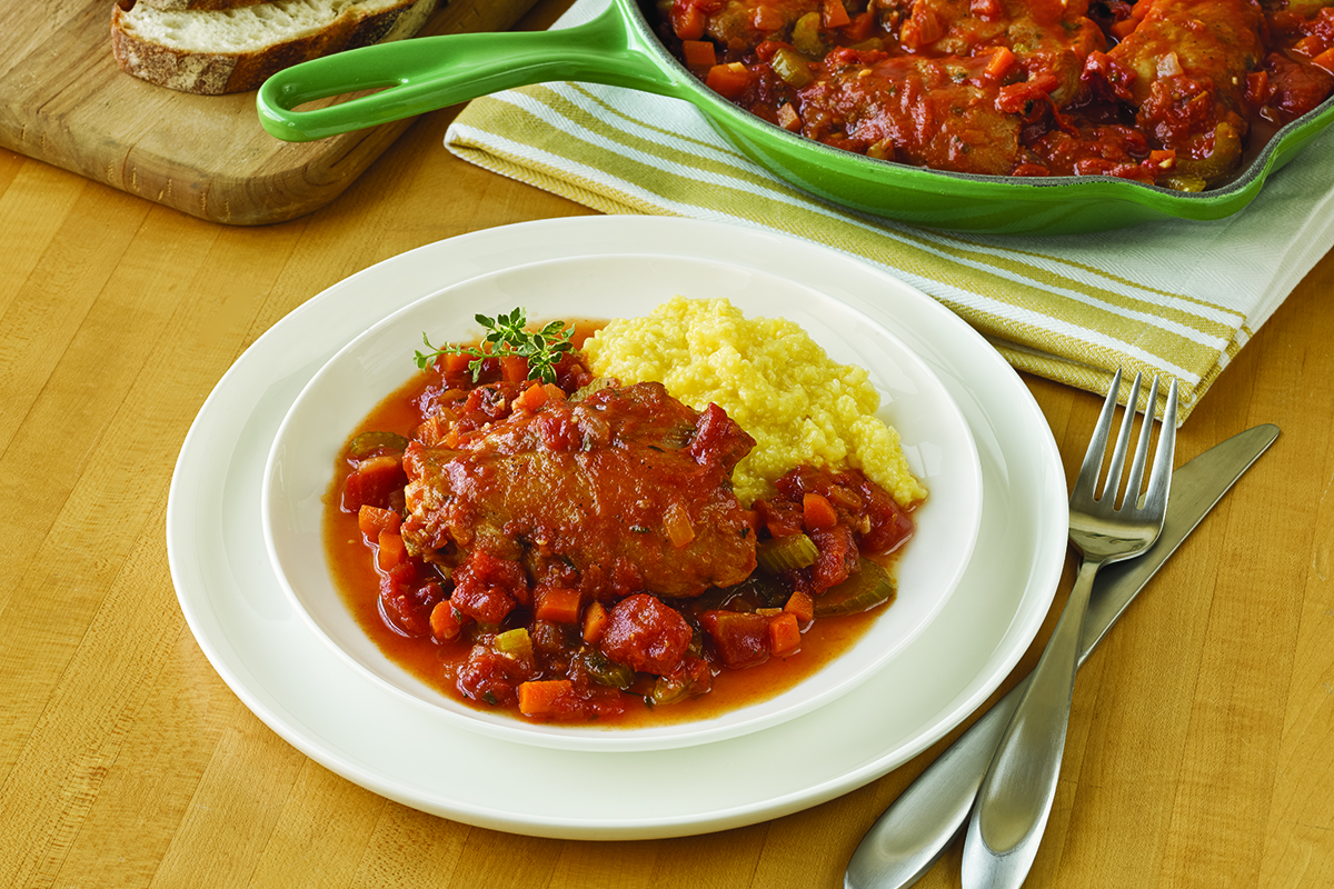 Stove-Top Tomato Braised Chicken
