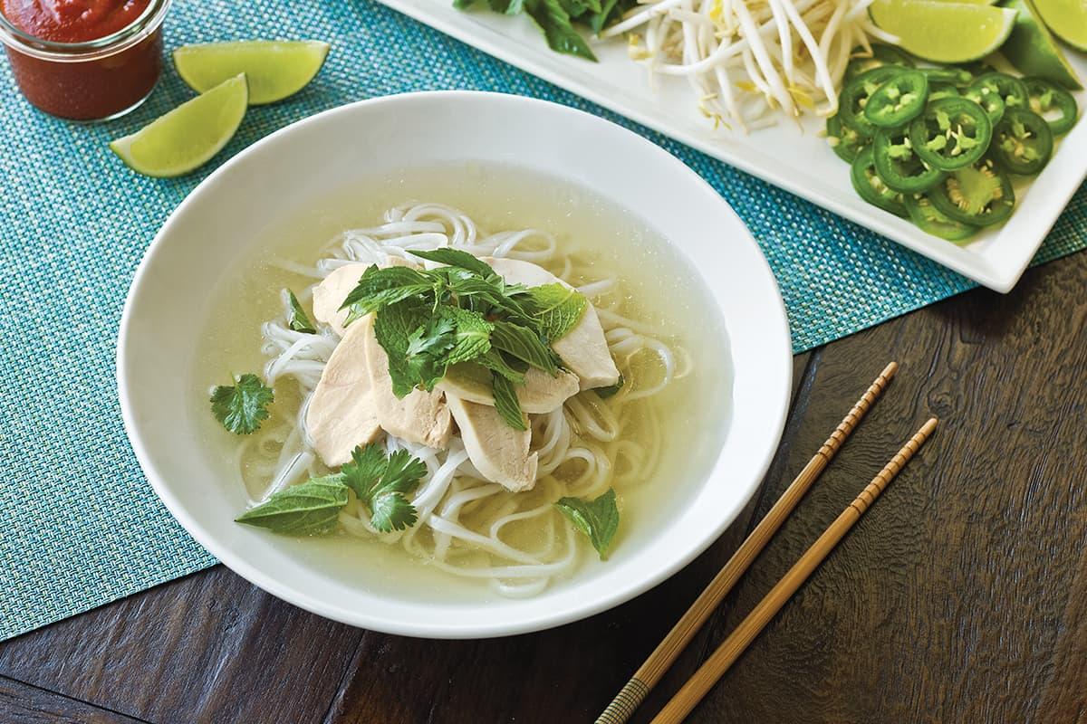 Vietnamese Chicken Noodle Soup Pho Ga Recipe Instructions College Inn